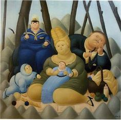 Fernando Botero, Sunday Afternoon, 1967 Statues, Visual Thinking Strategies, Fat Art, Pablo Picasso, Artist Painting, American Art, Les Oeuvres, Smurfs, Disney Characters