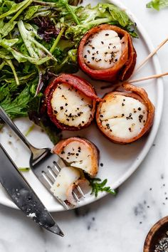 2 each- Air Fryer Bacon Wrapped Scallops - Skinnytaste Bacon Wrapped Chicken Bites, Bacon Wrapped Scallops, Skinny Taste, Whole Food Recipes, Cooking Recipes, Healthy Recipes, Healthy Meals, Keto Recipes, Game Recipes