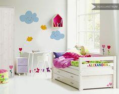 Vinilo infantil XuxuLanstrum modelo Happy. Mobiliario Flexa.