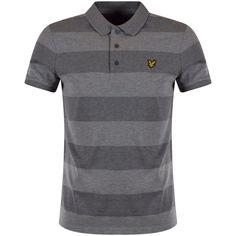 LYLE & SCOTT Lyle & Scott Grey Stripe Polo Shirt - Polo Shirts from…