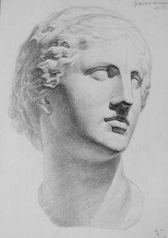 Drawing Heads, Sculpture Head, Perspective Art, Academic Art, Drawing Expressions, Anatomy Drawing, Arte Pop, Pencil Art Drawings, Old Master