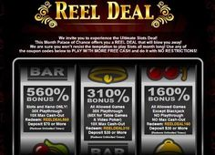 Palace of Chance Casino July reload bonuses with up to 560% match