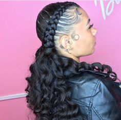 Do you guys like this Beautiful Hair Styles for Black Women? Pretty Hairstyles, Girl Hairstyles, Braided Hairstyles, Black Hairstyles, Curly Hair Styles, Natural Hair Styles, Hair Laid, Girls Braids, Great Hair