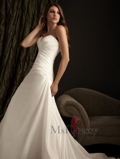 I love how elagent this dress is. I can't wait for when I'm old enough to get married! I'm pretty sure I'll still like it!