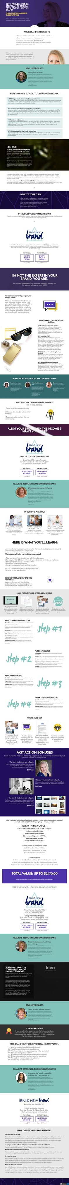 Brand New Brand is a live group coaching program for people who need to rebrand, launch, or realign their brand. https://brandtrifecta.com/joinbnb