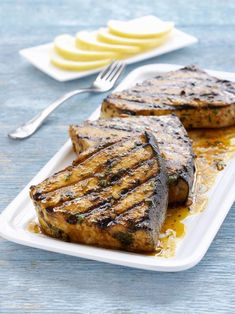 All The Best Grilled Fish Recipes: Ginger-Lime Swordfish Grilled Fish Recipes, Steak Recipes, Grilling Recipes, Cooking Recipes, Tilapia Recipes, Salmon Recipes, Orange Recipes, Cooking Tips, Vegetarian Grilling