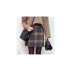 Plaid A-Line Skirt (30 CAD) ❤ liked on Polyvore featuring skirts, women, a-line skirt, tartan a line skirt, knee length a line skirt, a line plaid skirt and tartan skirt