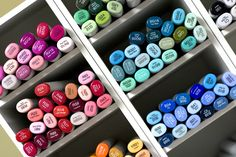 """All 334 Copics markers are on my """"wish list"""".  Since my top priority is scrapbooking, I haven't invested in Copics since I only use Creative Memories' supplies when I scrapbook.  But when I free up time for more arts & crafts, Copics, here I come!"""