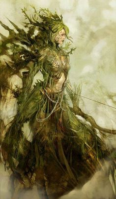 FUCK. YES. Dryad matriarch. Sick bow.