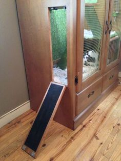 DIY Rabbit Hutch (you can put it outside and have an attached exercise area)
