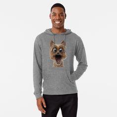 surprised dog face by Shark-Plaza | Redbubble Surprised Dog, Shark, Sweatshirts, Face, Dogs, Sweaters, Fashion, Moda, Fashion Styles