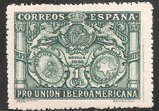 "Spain Stamp - Scott #433/A68 1c Blue Green ""Arms of Spain"" OG Mint/LH 1930"