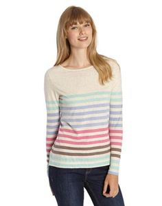Joules Womens Long Sleeved Jersey Top, Navy Engineered Stripe.                     The stripes on this slub jersey make it perfect for brightening up the dullest of days.  Long sleeved and ideal for layering.