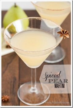 Spiced Pear Martini - The combination of pear and warm fall spices make for a killer martini!