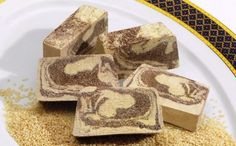 Halva is made of sesame paste mixed with sugar syrup or honey or molasses from grape juice. You can find Halva in a wide range of tastes while the most popular ones are vanilla and chocolate enriched with nuts!
