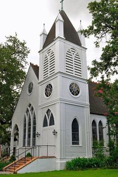 My old church, St. Matthew's Episcopal in Houma, LA (before it burned down in 2011)