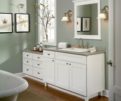 Schrock Cabinets Available At The Kitchen Works Custom Kitchen Cabinets,  Bathroom Cabinets, Bathroom Mirror