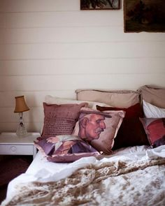 The New Victorian Ruralist: Leslie Oschmann's Swarm pillows available at Finderskeepers Market...