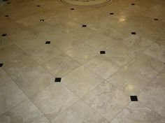 tile floor patterns with creamy white natural inset