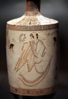 A 5th-century Greek lekythos, or olive oil jar, at the Cleveland Museum of Art