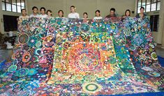 Community service learning project in Thailand for SEALNet members from Stanford university. #circle #circlepainting #artforall #collaboration #arteducation #teambuilding #communityart #mural #servicelearning www.circlepainting.org