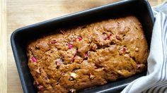 Rhubarb Cinnamon Bread-This easy-to-make quick bread gets a lovely warmth from the cinnamon and brown sugar, balanced by nuggets of tart rhubarb. http://www.today.com/recipes/cinnamon-rhubarb-bread-t89681