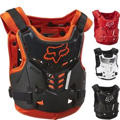 Fox Racing Proframe LC Youth Motocross Protection Chest Guard Roost Deflect