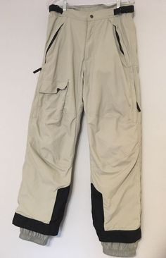 17b0454677 Mens Obermeyer Ski Pants Medium Sasquaro Snowboard Oyster Beige Lined  Insulated #Obermeyer Snowboard Apparel,