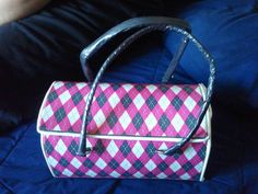 Pink Argyle Duct Tape Bag as featured on DuctTapeFashion.com. #ducttape