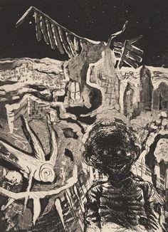 Otto Dix. Nocturnal Encounter with a Madman (Nächtliche Begegnung mit einem Irrsinnigen). 1924.