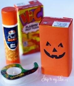 Free printable pumpkin face juice box cover #print #halloween www.skiptomylou.org