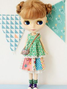 Sugarbabylove  With cat set for Blythe by SugarbabyloveDoll, $48.00
