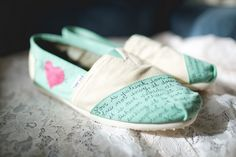 """Slippers """"Love is patient, Love is ....""""  -Kristina & Jeffery's Wedding in Connecticut"""