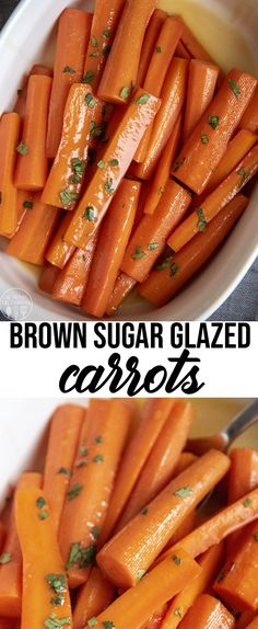 These brown sugar glazed carrots, are covered in a sweet butter and brown sugar glaze. They are the perfect side dish, and you may even find yourself snacking on them before dinner starts. Brown Sugar Glazed Carrots, Brown Sugar Salmon, Candied Carrots, Rainbow Carrot Recipes, Carrot Vegetable, Vegetable Garden, Carrots Side Dish, Thanksgiving Dinner Recipes, Sweet Butter