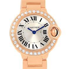 45dd4c81ad3 15496P Cartier Ballon Blue 18K Rose Gold Diamond Small Ladies Watch  WE9002Z3 SwissWatchExpo Swiss Luxury Watches