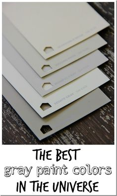 Here's a simple list of the five best gray paint colors for your home. Take the challenge out of choosing a gray with these five classic gray paint colors from Thistlewood Farms. Interior Paint Colors, Paint Colors For Home, Interior Design, Interior Ideas, Paint Colours, Grey Colors, Cafe Interior, Interior Sketch, French Interior