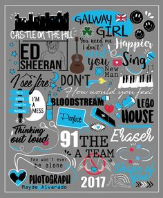 Ilustraciones de las canciones para el Tour Divide del artista Ed Sheeran #TourDivide #Ed #Sheeran #canciones #songs #illustrations #ilustraciones