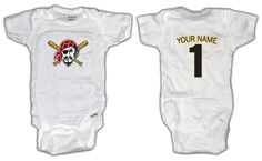 Baby Stuff · Baseball Pittsburgh Pirates ONESIE with by  LilOnesBabyBoutique 5b90fba85