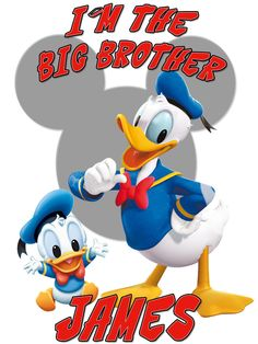 Personalized Custom Big Brother NAME T-shirt Disney Donald Duck #2