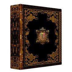 Shop Lasher Antiqued Victorian III Monogram Binder created by LiquidEyes. Personalize it with photos & text or purchase as is!