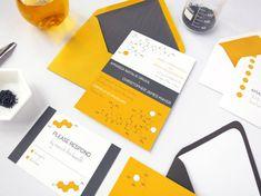 Neurochemical Wedding Invitation Suite by AthenaNAphrodite on Etsy