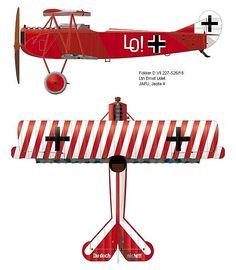 Fokker DVII of Lt. Ernst Udet, Jasta 4, 1918.