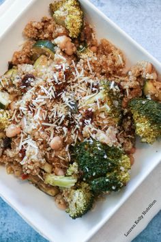 Vegetable Parmesan Quinoa in the Slow Cooker | cupcakesandkalechips.com | #glutenfree #vegetarian