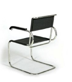 The Bauhaus Cantilever Chair (D 40) was designed by Marcel Breuer at the Bauhaus Dessau in 1928. From Tecta.
