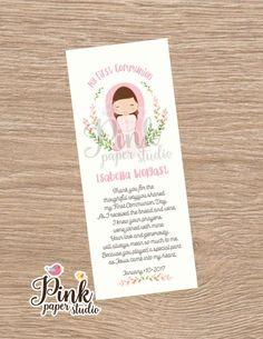Primera comunión Favor tarjetas • marcapáginas niña comunión Recuerdo de Primera Comunion Niña de PinkPaperStudioMiami en Etsy https://www.etsy.com/es/listing/492181253/primera-comunion-favor-tarjetas