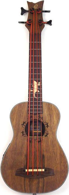 New pic of my Ortega Lizard Uke Bass #LardysUkuleleOfTheDay ~ https://www.pinterest.com/lardyfatboy/lardys-ukulele-of-the-day/ ~