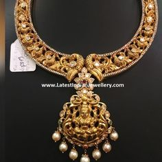 Diamond Studded Nakshi Necklace