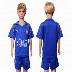 2016-2017 Leicester City club blue kid soccer Jersey home