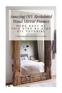 Easier to Make Than You Think! Create a HUGE Visual Impact with this mirror frame by following these Quick Steps and Tricks