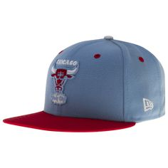 224bdb5ce57 Chicago Bulls Sky Blue and Red Windy City Bull Logo Chicago Flag Flat Bill  Fitted Hat